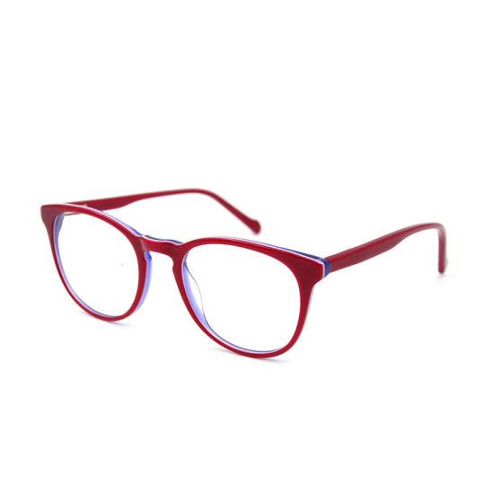 2019 New Light Color Acetate Prescription Glasses Computer Glasses Optical Frame for Young Teenager