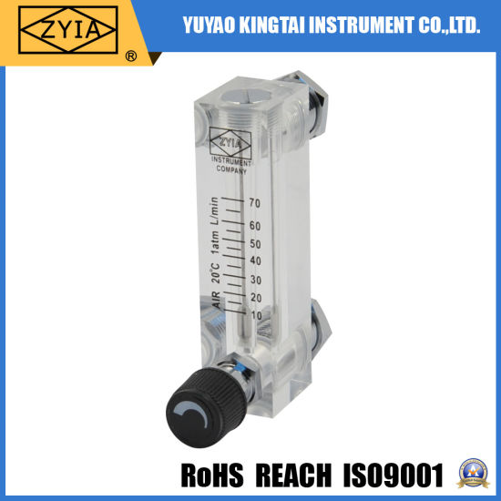 Panel Type Acrylic Nitrogen Gas Flow Meter with Control Valve