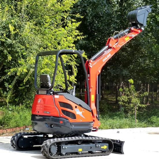 China Mini Excavator 2.5t Small Digger Excavator with Rubber Track