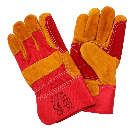 Cow Split Leather Industrial Working Gloves pictures & photos