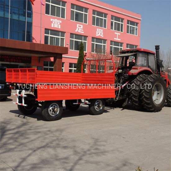 5 Ton 3 Sides Tipping Farm Trailer in Stock High Quality Tractor Trailer Factory Price