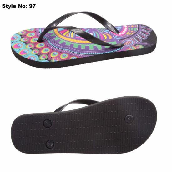 3c1c36f3b China Beach Sandals Flip Flops for Ladies Simple Printed Slipper ...