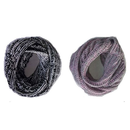 Lady Winter Fashion Knitting Roving Marl Infinity Scarf