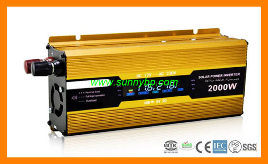 12V/24V 500W LCD Solar Inverter with UPS pictures & photos