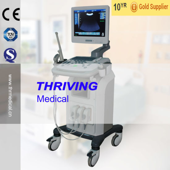 Trolley Type B/W Ultrasound Scanner (THR-US9902) pictures & photos