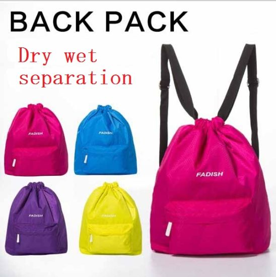 2dd49f202f China Dry and Wet separation Drawstring Swim Bag