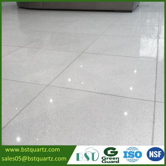 Interior Tile Sparkle White Quartz Stone For Floor
