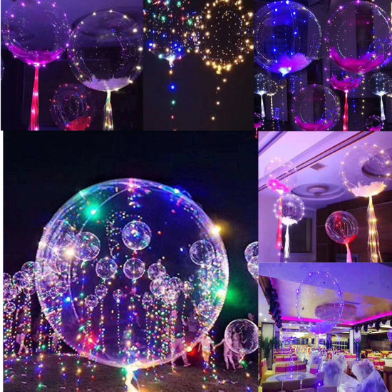 China luminous led balloon transparent round bubble decoration party luminous led balloon transparent round bubble decoration party wedding junglespirit Image collections
