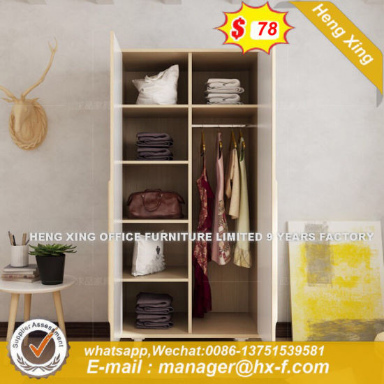 Wooden 2 Door Cabinet Storage Home Furniture Designs Bedroom Wardrobes  (HX 8ND9065)