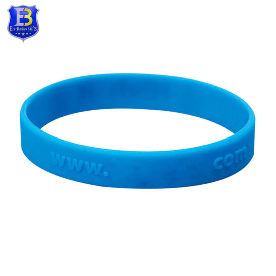 Custom Logo Silicone Wristband Rubber Wrist Bands pictures & photos