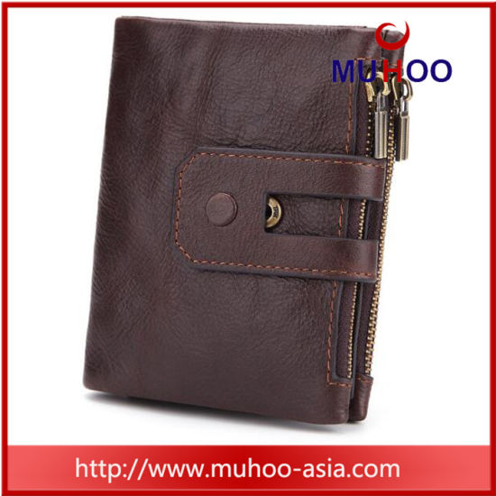 Men′s RFID Blocking Trifold Bifold Travel Wallet Purse pictures & photos