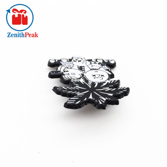 China Raised Recessed Black Nickel Plating White Enamel