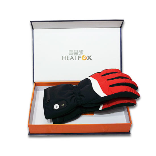 heating mitts for arthritis Far-infrared heated ski glove with battery with contrast colour USB gloves heated fingerless