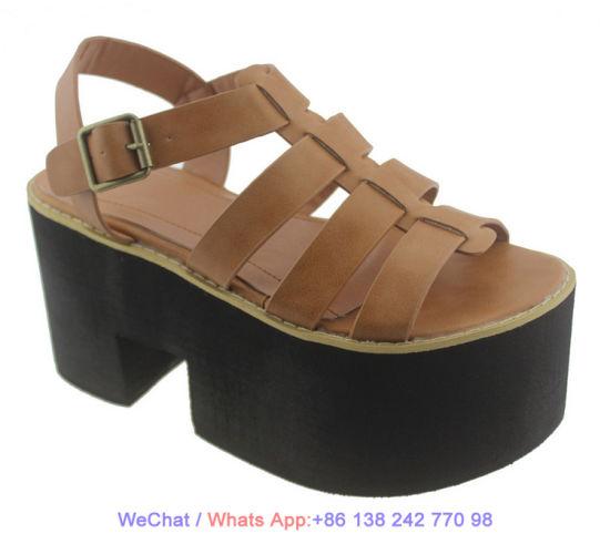 Women Comfy Platform Espadrilles Leather Strap Flatform Wedge Sandal Shoes