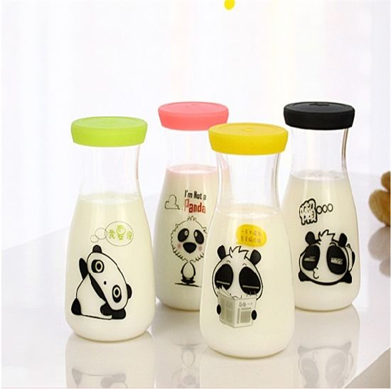 250ml 500ml 1000ml Milk Juice Glass Bottle with Twist Caps pictures & photos