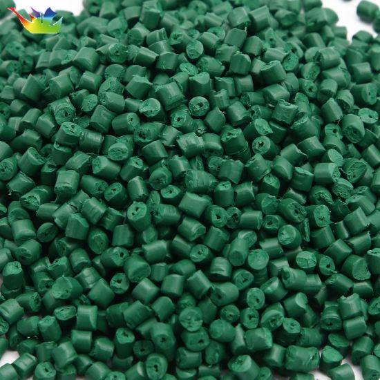 ABS, LDPE, HDPE, GPPS, PP Grass Green Uviofast Masterbatch Polyester Pellet