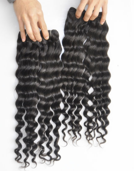 100% 9A Brazilian Deep Wave Virgin Human Hair Extensions Lbh 024 pictures & photos