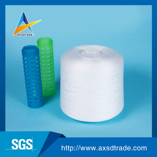 Plastic Cone High Tenacity 100% Polyester Textile Knitting Yarn for Embroidery pictures & photos