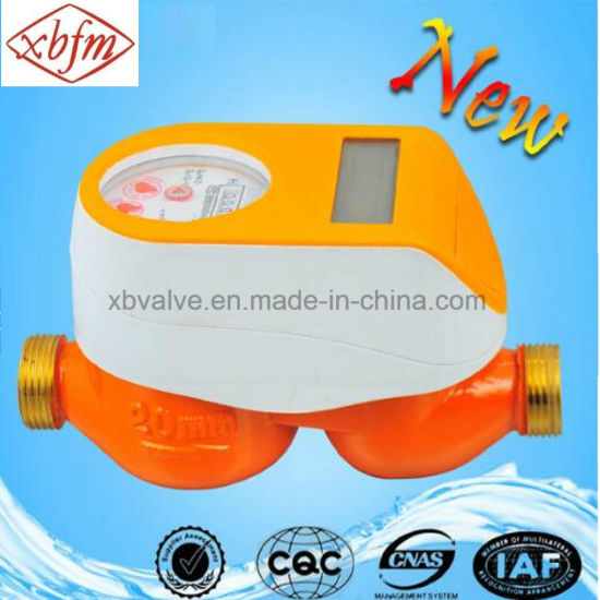 Brass Body IC Card Cold Water Meter (Orange Color) pictures & photos