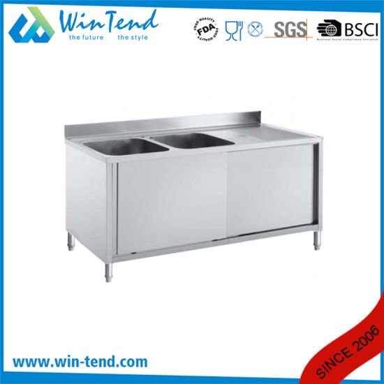 Customized Equipment Stainless Steel Kitchen Sink with Workbench pictures & photos