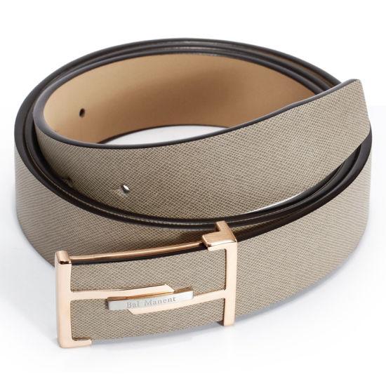 Guangzhou Leather Co Ltd Golden Buckle Men's Leather Dress Belts