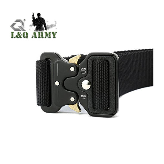Nylon Tactical Military Belt with Adjustable Metal Buckle