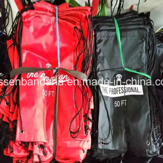 OEM Custom Logo Printed Polyester Nylon Advertising Promotional Sports Gym Drawstring  Waterproof Red Backpack Bags Manufacturer dc30d5eea7df4