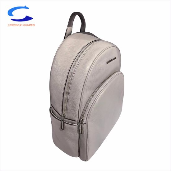 "2018 Fashion Design Multi Variety Double Shoulder Strips 17"" White Surface Printed Style Super Light Weight Junior PU+Leather Travel Backpack School Kids Bags pictures & photos"