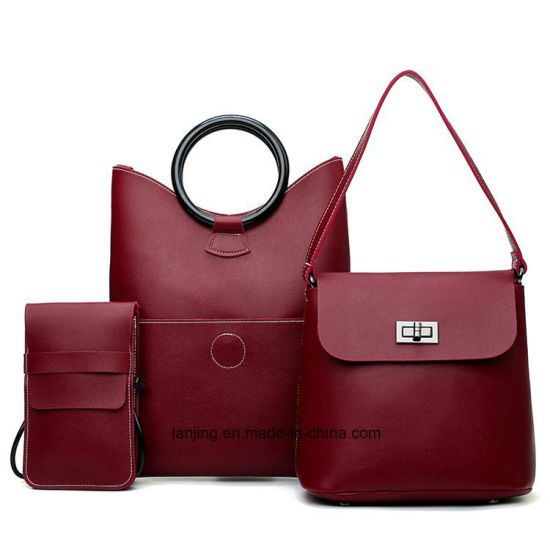 fade0b785f Latest Fashion Tote Bags with Small Pouch Wholesale Ladies Handbag 3 Pieces  in Set
