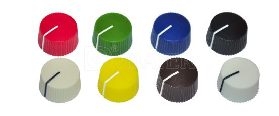 Plastic Serrated Round Pointer Potentiometer Pedal Knob with Thread pictures & photos