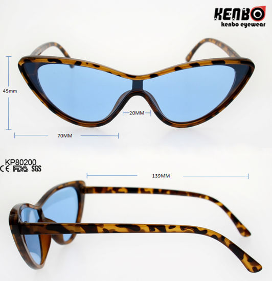 c5a375695b Fashion Cateye Plastic Sunglasses with One Piece Lens Kp80200 pictures    photos