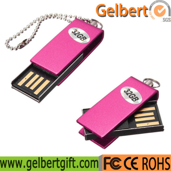 Mini Metal Swivel USB Flash Drive USB Stick with Logo pictures & photos