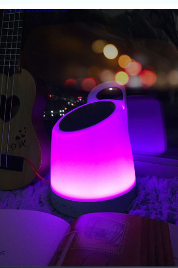 Plastic Injection Product Hangable LED Charging Professional Wholesale Wireless Mini Bluetooth Night Light Speakers for Baby