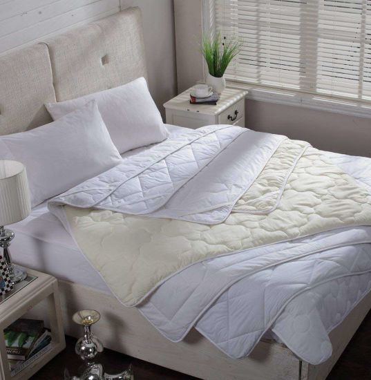 5-Star Wholesale Waterproof Quilted Oblique Squares Anchor Bands Mattress Protector