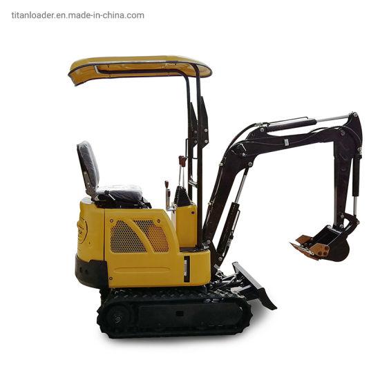 Factory Titan China Cheap Mini Small Micro Crawler Digger Bagger Excavator with EPA Euro 5 Engine