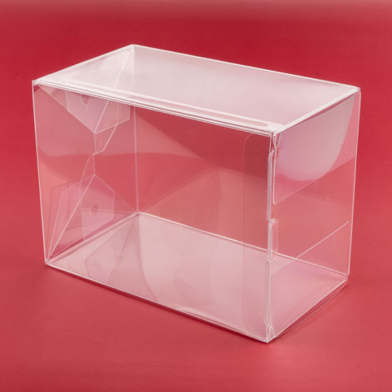 Factory Direct Sale Custom Logo Foldable Clear PVC Transparent Plastic Box