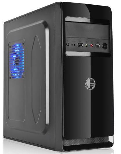 Hyun Black Desktop Computer Mainframe Computer Case Internet Cafe ATX Game Empty Case