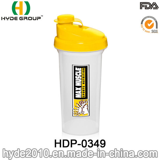 Outdoor Fitness 700ml Plastic Sport Water Bottle, Plastic Shakers for Protein (HDP-0349)