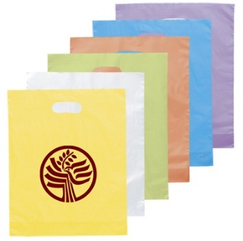 Handle Die Cut Shopping Bag Customized Gift Bag Promotional Plastic Shopping Bag