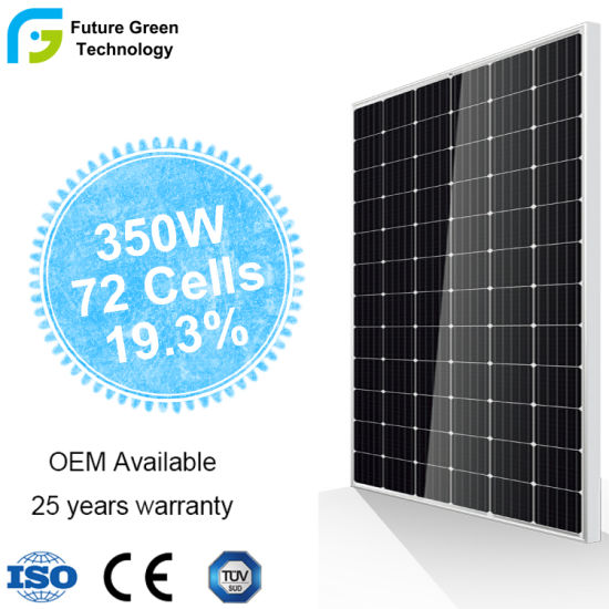High Efficient 300W 350W 375W Solar Energy Power Mono Monocrystalline PV Panel pictures & photos