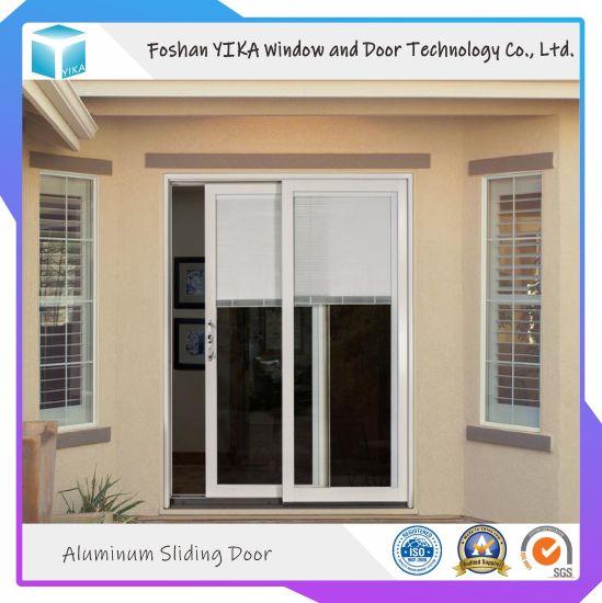 Yika Double Temered Glass Aluminum Sliding Door for Kitchen