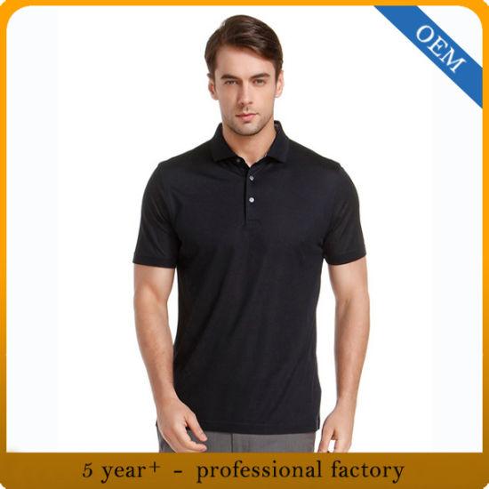 Custom High Quality Men's Fashion Plain Cotton Polo T-Shirt