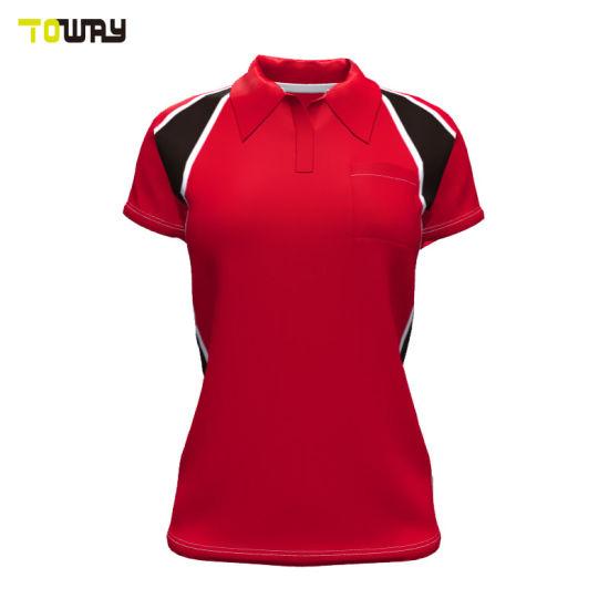 China Women S Office Design Uniform Custom Polo Shirt China Design