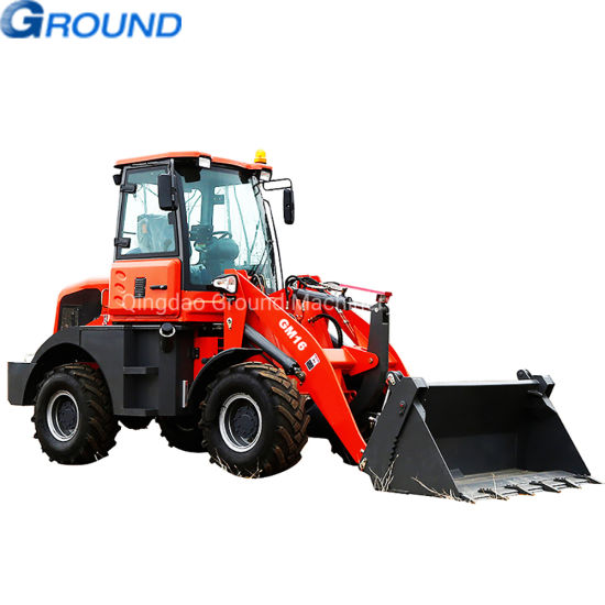 1,6ton tractor wheel mini loader bale grab loader with auger ,bucket for grapple loog