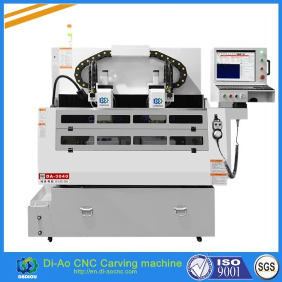 China Double Xyz Axis CNC Carving Machine with Software for
