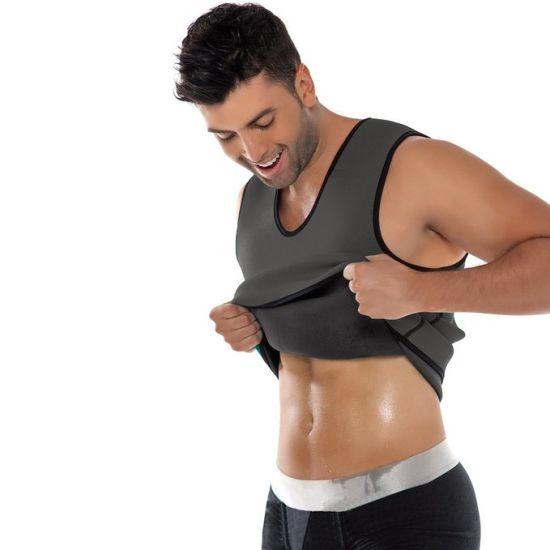 e351625f79 Men′s Sweat Vest Waist Trainer Hot Body Shaper for Weight Loss Side Zipper  Neoprene Burn Fat Sauna Suit Tank Top