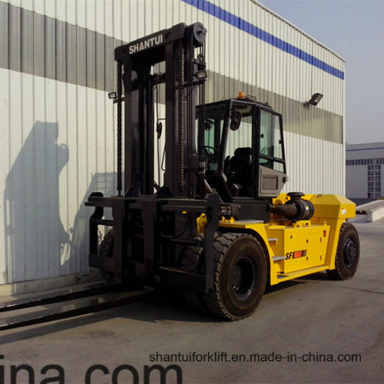 Sf160 16 Ton Forklift Truck with Cabin and Air Container pictures & photos