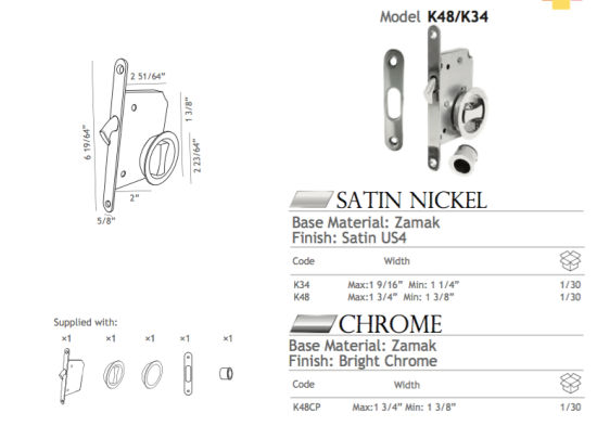 50mm (50YMS) Backset Steel Pocket Lock pictures & photos