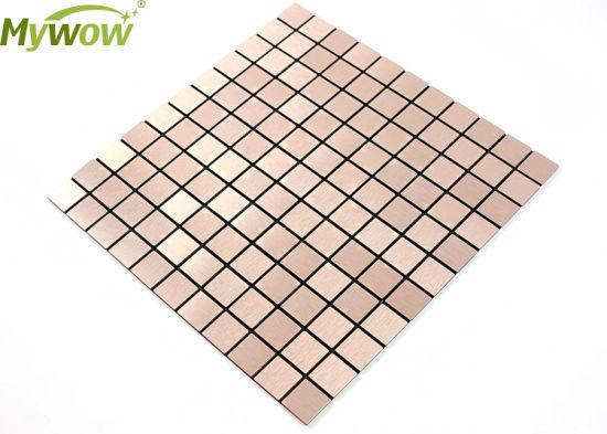 Living Room Wall Backsplash Decor 300X300 Tile Aluminum Mosaic