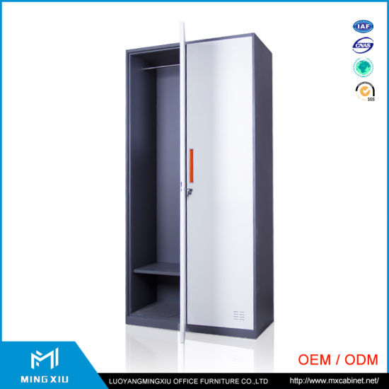 China Manufacturer Narrow Edges High Quality Steel Storage Locker /Multi  Color Steel Bedroom Wardrobe Cabinet